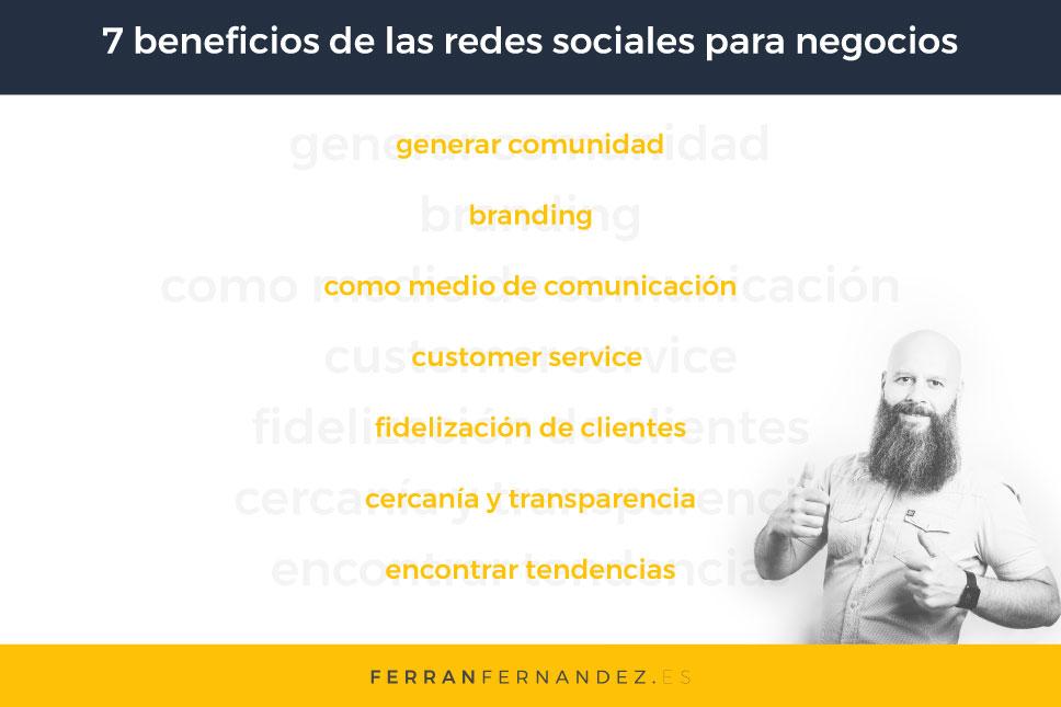 7 Beneficios de las redes sociales para negocios