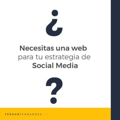 ¿Es necesaria una página web con mi estrategia en redes sociales?