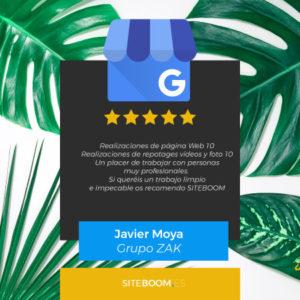 Reseñas de clientes en Google Business